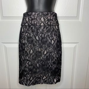 Black lace H&M pencil skirt